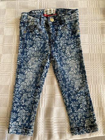 Jeansy w kwiatki