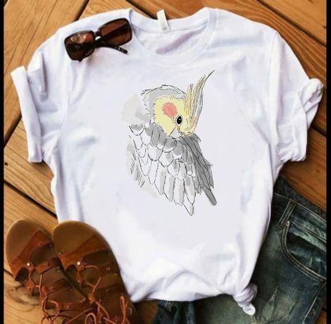 Koszulka t-shirt papuga ara kakadu nimfa S-XXL