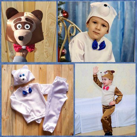 Новогодний костюм белого медведя, бурого медведя , мишки р. 86 - 116