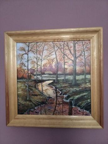 """Obraz olejny ręcznie malowany ,, jesień"""""""
