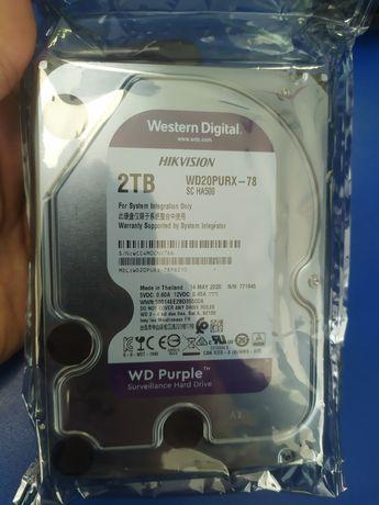 Wd purple 1tb, 2tb новые, не распакованые