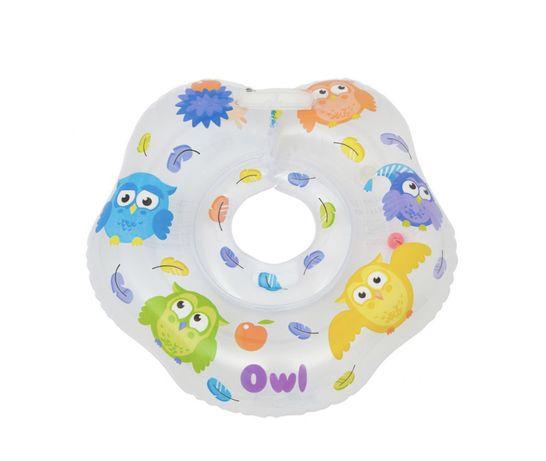 Круг на шею ROXY-KIDS Совы для купания малышей 3-18 кг