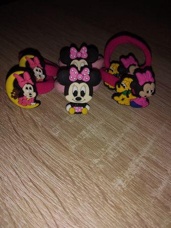 Nowe gumki do włosów Disney Myszka Minnie, Daisy
