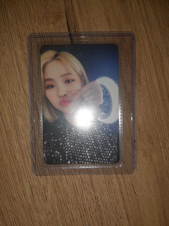 Ryujin karta itzy photocard kpop