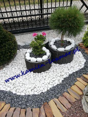 Otoczak biały Grecki Orginalny THASSOS /kamień ogrodowy/workowany 20kg