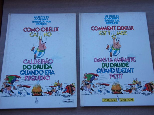 Livro ASTERIX Como OBELIX Caiu no Caldeirão ( France))