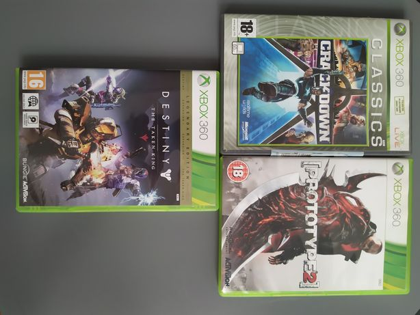 3 gry na xbox360 Crackdown , Prototype 2 , Destiny