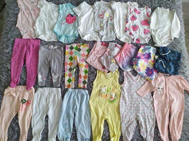 Ubrania dla dziewczynki rozmiar 74