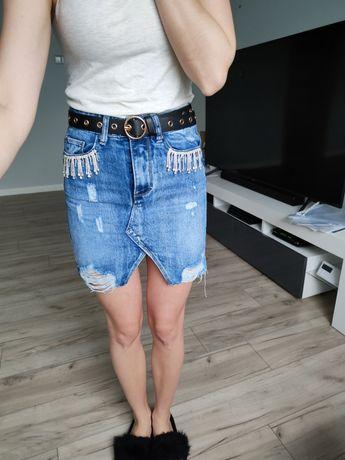 Xs spódnica jeans mega efektowna nowa