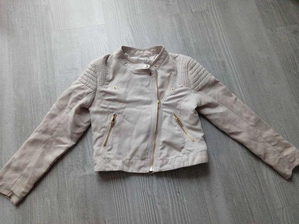 Ramoneska kurtka dziewczęca zamsz 134 H&M