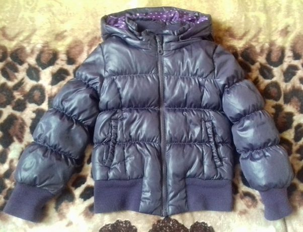 Куртка, пуховик Benetton на девочку 3-4 года