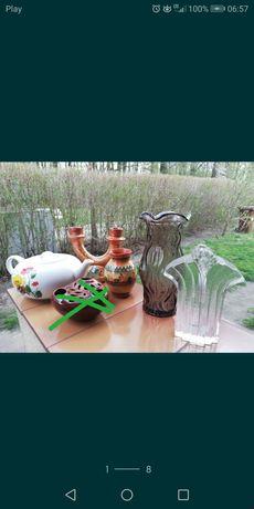 PRL Łysa Góra, wazon, porcelana, ikebana, świecznik