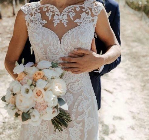 Suknia ślubna w kolorze ivory r. 34
