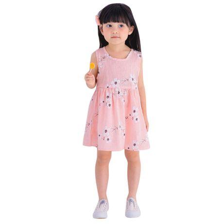 Śliczna sukienka bawełniana typu len rozmiar na 100cm