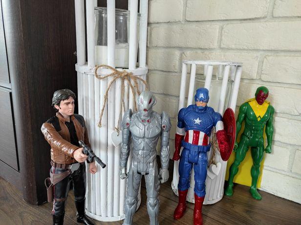 4 Figurki 30cm Marvel stan idealny
