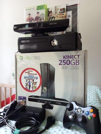 Xbox 360 jak nowy 55gier Kinect pad bezprzewodowy pudełko na prezent