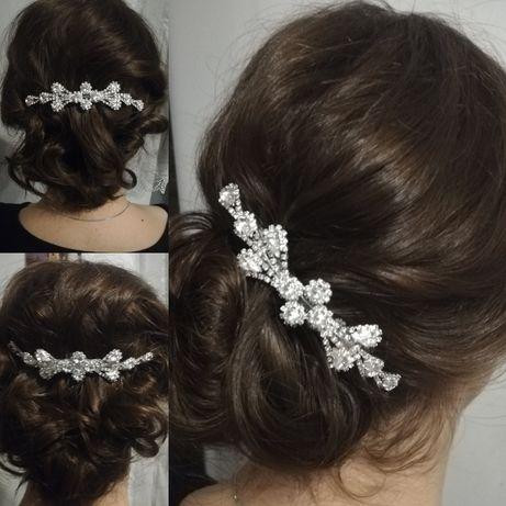 Grzebień ślubny spinka ślub ozdoba do włosów