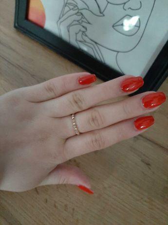 Elastyczny pierścionek złoto róż