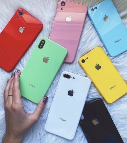 Glass Case/Стеклянный чехол IPhone/Айфон 6 s + 7 8 X XR Xs Max 11 Pro