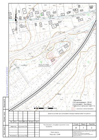 Викопіювання з топографо-геодезичного плану Полтава та Область