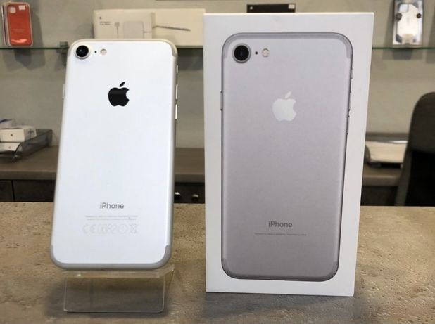 Iphone 7 Silver 32 гб Neverlock +чехол павербанк