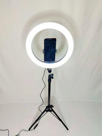 [NOVO] Ring Light c/ Anel 30 cm + Tripé Extensível [60 cm - 160 cm]