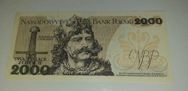 banknot 2000 zł Mieszko I z 1979 r seria AA stan UNC