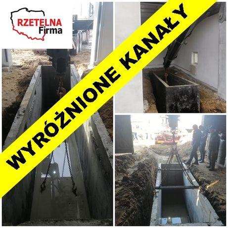KANAŁ betonowy szczelny SAMOCHODOWY 4 CAŁA POLSKA z dostawą Wały Płozy