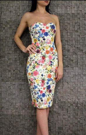 Великолепное платье миди в цветы