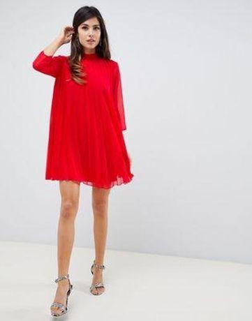 Нарядное плиссе платье asos пышное фирменное