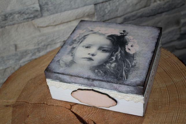 Pudełko Komunia Chrzest Urodziny hand made
