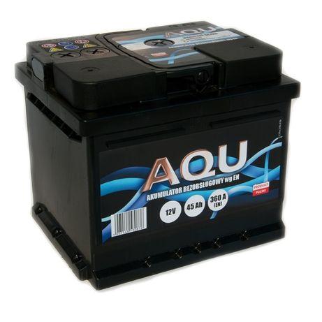 Akumulator 12V 45Ah 360A AQU Autopart Dowóz Montaż Płatność kartą