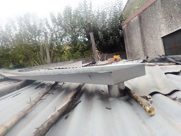 Caleira zinco perto dos 4 metros