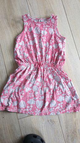 Letnia szaro różowa sukienka, 104