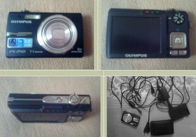 OLYMPUS FE-240 Цифровая фотокамера черная, полный комплект