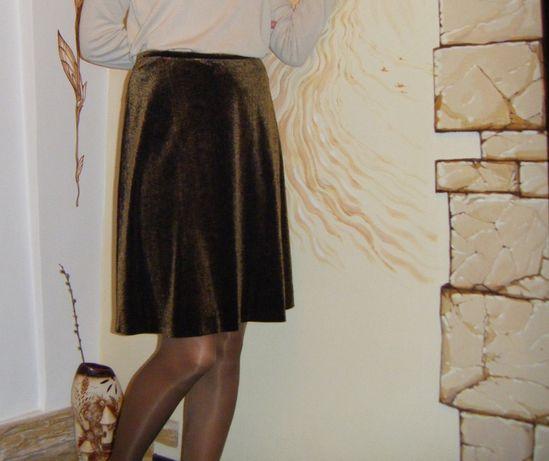 юбка велюровая офисная и просто праздничная