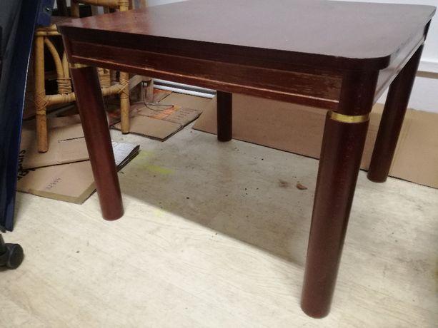 Stół do salonu, do kawy, stolik brazowy ze zloceniami