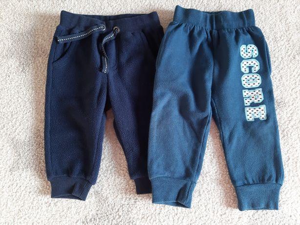Spodnie 2szt r.68 i 74