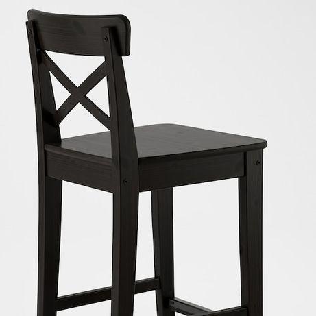 Nowe krzesło barowe hoker nieuzywane Ingolf czarne Ikea okazja