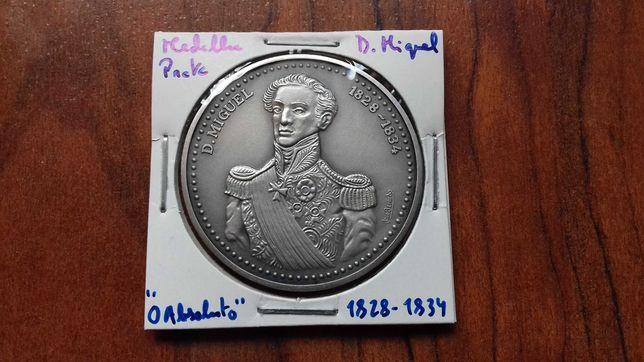 Medalha de Prata de D. Miguel I , O Absoluto