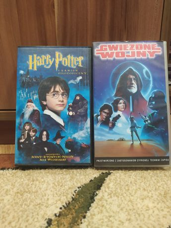 Kasety VHS Filmy Harry Potter i Star Wars.