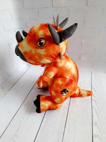 Большой динозавр Jurassic world оригинал 25 см мягкая игрушка
