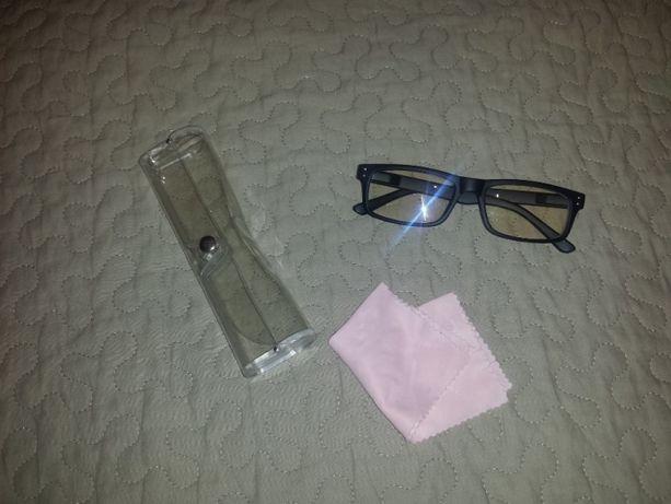 Czarne okulary zerówki powłoka antyrefleksyjna
