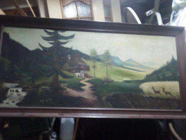 Stary malowany obraz z 1933r.