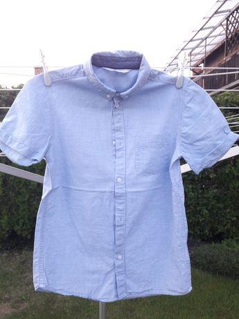 Elegancka galowa błękitna koszula 152 H&M