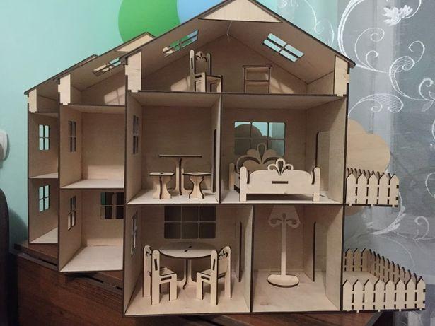 Ляльковий будиночок для ляльок лол деревянный кукольный домик