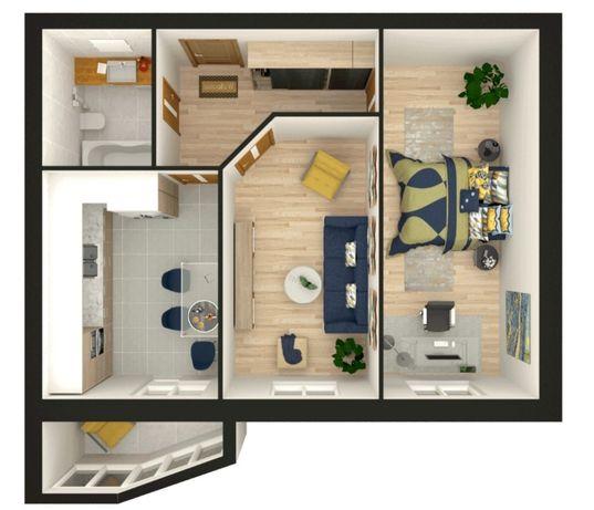Квартира 2 комнатная ЖК Атлант