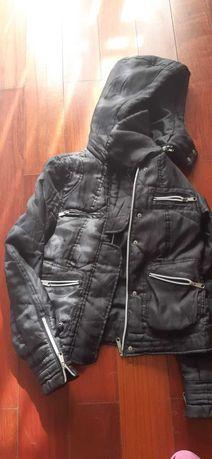 casaco estilo motard  tam S - SMF Jeans