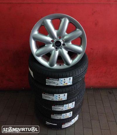 Jantes 17 NOVAS Mini Cooper S cinza C/ pneus usados