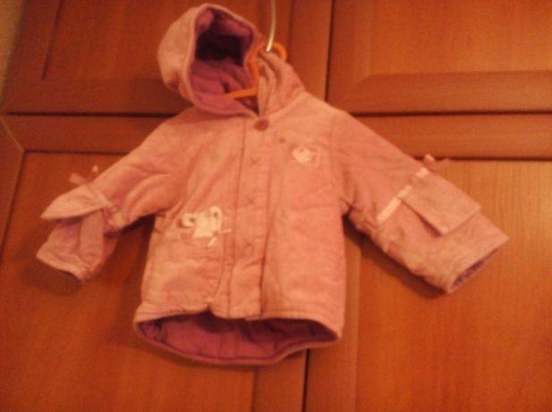 Курточка на девочку .Велюровая. Разм. на-4-6месяцев. Цена-100грн.